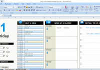 Daily Work Schedule Template – Free Word, Excel, Format Download
