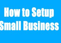 How to setup a small business