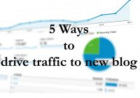 How To Drive Traffic On Your New Blog- 5 Best Ways