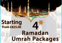 Beautiful 4-star Umrah packages for the life changer pilgrimage
